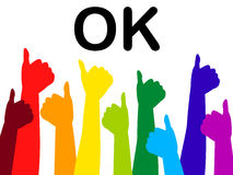 Free Thumbs Up Represents All Right And Ok Royalty Free Stock Images - 42011929