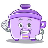 Thumbs up rice cooker character cartoon Royalty Free Stock Photo