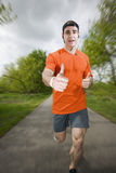 Thumbs up for running Stock Photo