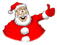 Thumbs up Santa. Image of an excited Santa giving a big thumbs up Royalty Free Stock Photography