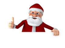 Thumbs up Santa with blank sign Royalty Free Stock Images