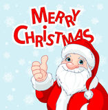 Thumbs Up Santa Claus greeting card Stock Images