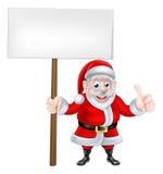 Thumbs Up Santa Sign Royalty Free Stock Photos