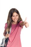 Thumbs up for school Royalty Free Stock Photos