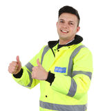 Thumbs up security Royalty Free Stock Image