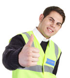 Thumbs up security guard Stock Photos