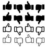 Thumbs up set stock illustration