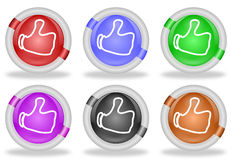 Thumbs Up Share Like Web Icon Buttons Royalty Free Stock Photography