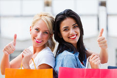 Thumbs up for Shopping Stock Photography