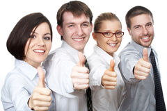 Thumbs-up sign Stock Photography