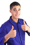 Thumbs up sign Stock Images