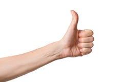 Thumbs up sign Stock Photos