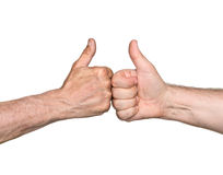 Thumbs up sign Royalty Free Stock Photos