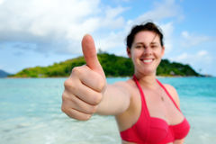 Thumbs up sign Royalty Free Stock Photo