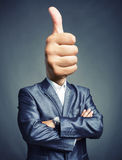Thumbs up sign Royalty Free Stock Photography