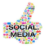 Thumbs Up Sign Of Social Media Icons Stock Photos