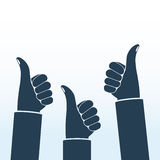Thumbs up silhouette Stock Photo