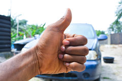 Thumbs up. And a simple sign to show okay or good to go. or well done Royalty Free Stock Photos