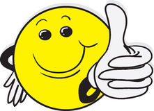 Thumbs Up Smile Guy Stock Image