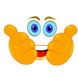Thumbs up smiley Royalty Free Stock Photography