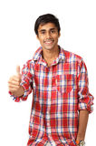 Thumbs up - smiling guy Royalty Free Stock Photo