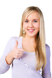 Thumbs up - smiling teenager Royalty Free Stock Photo