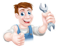Thumbs up spanner mechanic Stock Photos