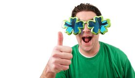 Thumbs Up St. Patricks Day. A man giving a thumbs up on St. Patrick`s Day Royalty Free Stock Photography
