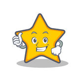Thumbs up star character cartoon style Royalty Free Stock Photography