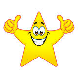 Thumbs up star Royalty Free Stock Photos
