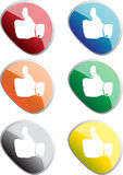 Thumbs up stickers Stock Image