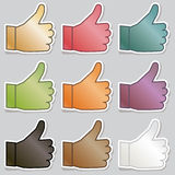 Thumbs up stickers Royalty Free Stock Image