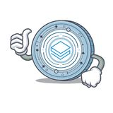 Thumbs up Stratic coin character cartoon. Vector illustration Royalty Free Stock Photos