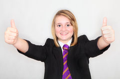 Thumbs up student Royalty Free Stock Image
