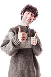 Thumbs up student Royalty Free Stock Photography