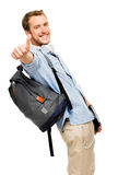 Thumbs up student happy man Royalty Free Stock Image