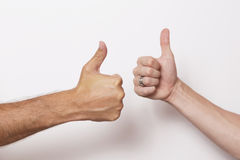 Thumbs up for success Stock Images