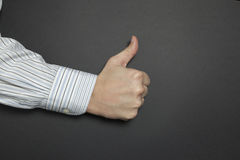 Thumbs up for success Royalty Free Stock Photos