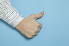 Thumbs up for success Stock Photography