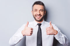 Thumbs up for success! Royalty Free Stock Photos