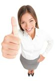 Thumbs up success woman Royalty Free Stock Photos