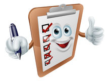 Thumbs up survey man and pen Stock Image