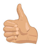 Thumbs up symbol stock image