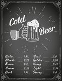 Thumbs up symbol icon with craft beer mug Stock Photos