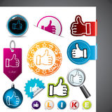 Thumbs up symbols Royalty Free Stock Photo