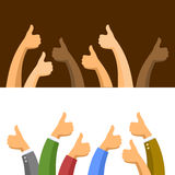 Thumbs Up Symbols Set. Vector Stock Photo