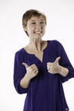 Thumbs up Teenage Girl Stock Photography
