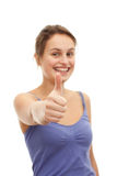 Thumbs up - Teenage girl showing success Royalty Free Stock Image
