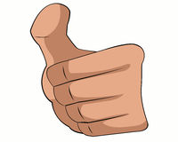 Thumbs up. Thumb up is imply that something is okay,good and fine Stock Photography