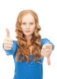Thumbs up and thumbs down Royalty Free Stock Photos